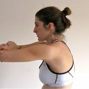 Nina demonstrating the second part - extension. These should be held for between 3 and 5 seconds.
